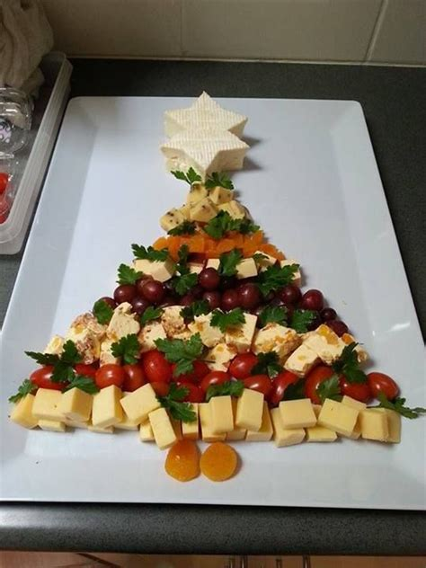 christmas tree cheese platter food ideas pinterest