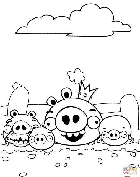 angry birds bad piggies coloring pages bad piggies aka pigs coloring page free printable