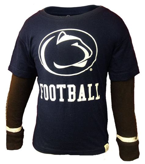penn state football youth 2 in 1 ls t shirt gt youth