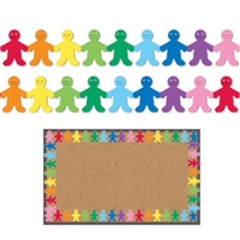 decorative borders for notice boards hygloss classroom borders rainbow kids bulletin board