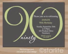 90th birthday invitation milestone 90th birthday by starwedd