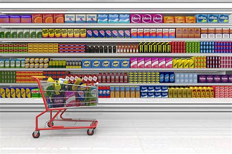 Shopping Shelf by Supermarket Shelf Pictures Images And Stock Photos Istock