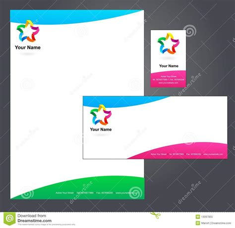 corporate template corporate letterhead template stock vector image 13097855