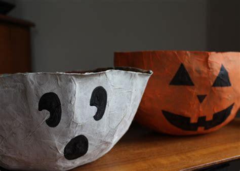Paper Bag Ghost Craft - craft paper bag bowls alpha