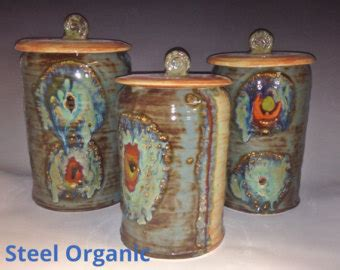 Unique Canister Sets Kitchen by Canister Set Etsy