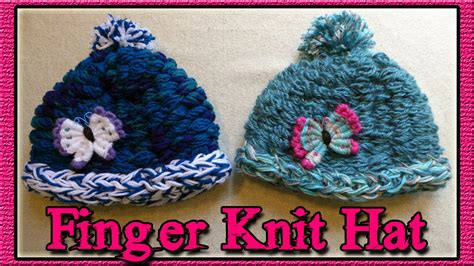 how to make a finger knit hat how to finger knit a hat