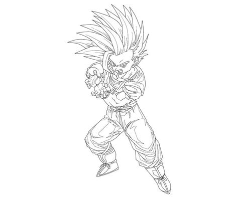 Father Son Kamehameha Gohan Coloring Coloring Pages Gohan Coloring Pages