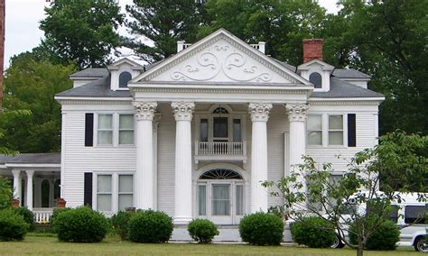 early classical revival style house house plans 37657