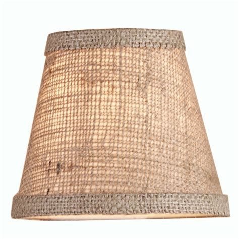 burlap chandelier shades 5 quot burlap empire chandelier shade shades of light