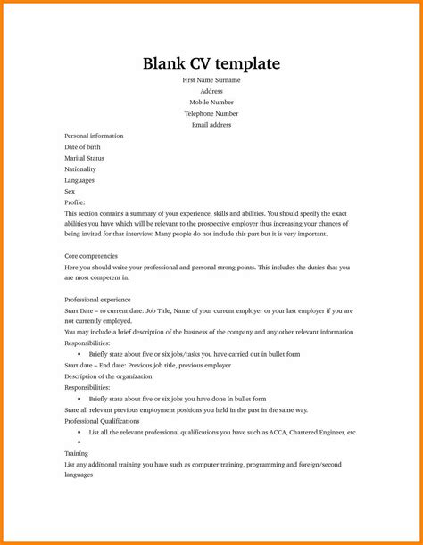 free fill in resume templates free resume templates to fill in and print images