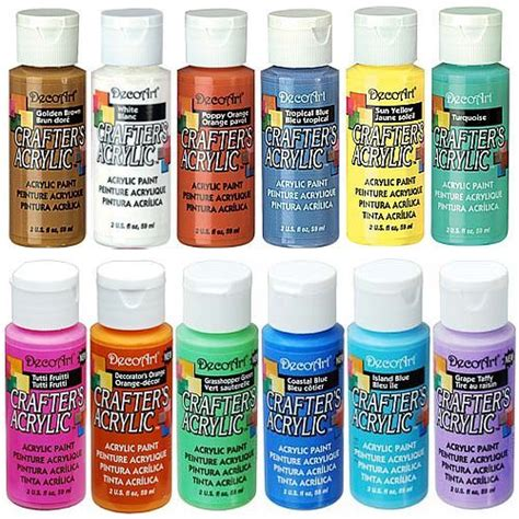 acrylic paint in history decoart crafters acrylic paint 59ml 94 assorted