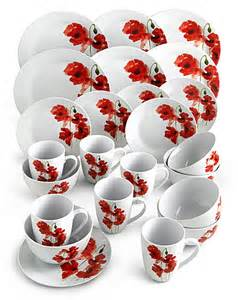 poppy 24 piece dinnerware set fashion world