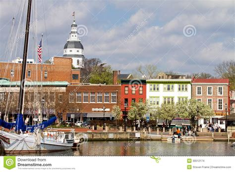Waterfront Home Plans annapolis downtown harbor editorial stock image image
