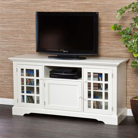 Upton Home Trevorton Off White Tv Media Stand White Tv Cabinets With Doors