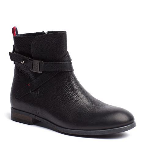 hilfiger billie ankle boots in black lyst