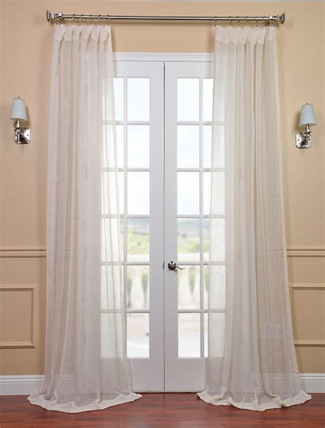 sheer cream curtains open weave cream linen sheer contemporary curtains