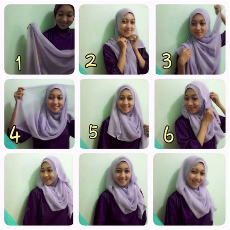 tutorial hijab simple n modern the gallery for gt tutorial hijab segi empat untuk ke kantor