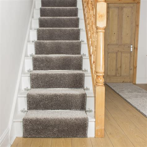 Where To Use Carpet Runners - shaggy silver grey stair runner free delivery plus a no