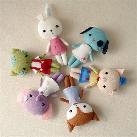 cute doll pattern love to do this with scraps from baby craft cute diy doll felt idea stitch toy image