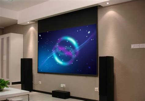 high definition ceiling hanging projector screen for