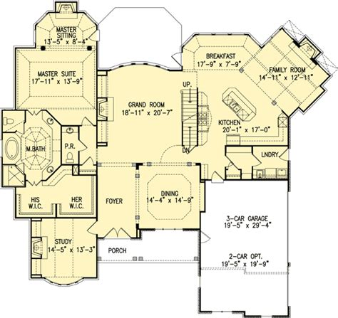 beautiful house floor plans plan 15611ge beautiful master down house plan open