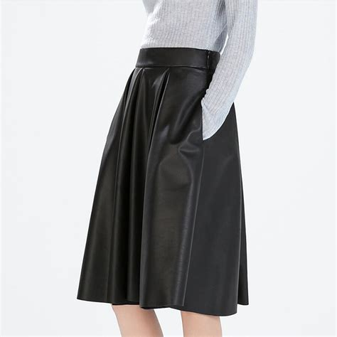 Pleated Skirt 692 Rok Midi Rok Kerja 1 aliexpress beli manu 2015 wanita pinggang tinggi rok