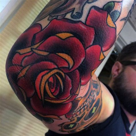 rose tattoo elbow tattoos www pixshark images galleries