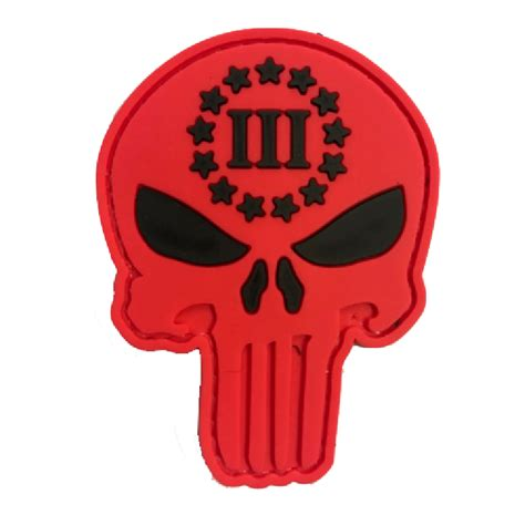 Patch Rubber Patch Punisher Merah Brevet punisher skull iii big tactical rubber patch