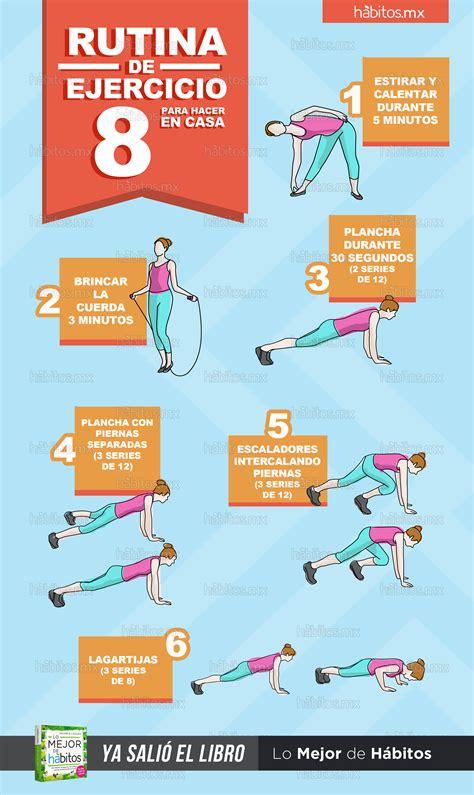 ejercicios de para hacer en casa h 225 bitos health coaching rutina de ejercicio 8 para