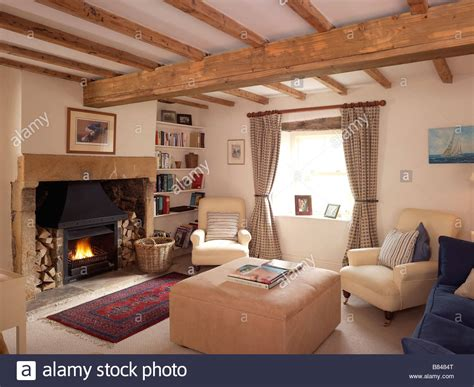 country style sitting rooms country style living room with lit open and furniture with stock photo royalty free