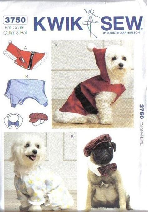 cat clothes pattern sew kwik sew pet sewing pattern dog clothes cat toys