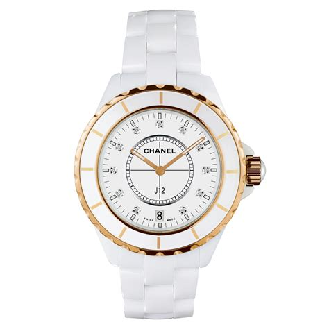 h2180 chanel j12 38mm white ceramic gold