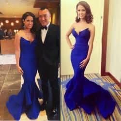 buy diyouth royal blue sweetheart satin prom dress long