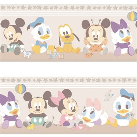 disney unisex wallpaper official disney baby mickey minnie mouse childrens nursery