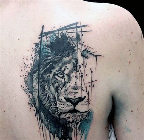 abstract tattoo designs for men 50 back designs for masculine big cat
