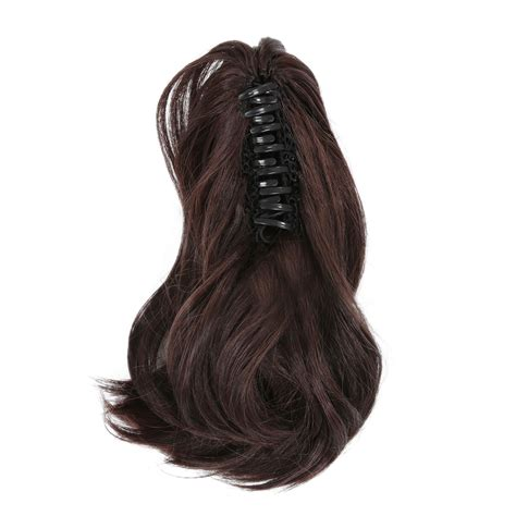 Ponytail Jepit Curlyhaircliphair Clipwig 18cf ponytail hair extensions synthetic hair wavy claw clip hair pieces ebay