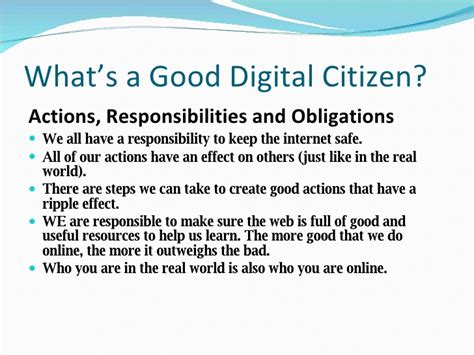 what does being a how digital citizenship can help make a difference