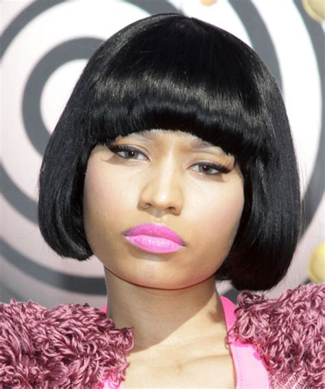 Nicki Minaj Bob Hairstyle by Nicki Minaj Casual Bob Hairstyle With Blunt