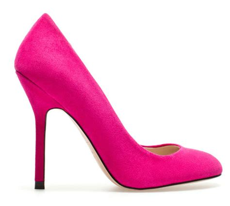 zara bright pink high heels in suede gt shoeperwoman