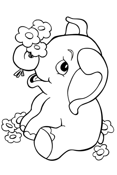 Cute Baby Elephant Coloring Pages Barriee Elephant Coloring Pages