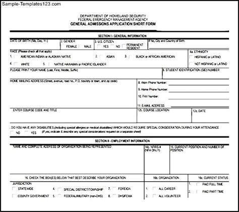 fema application form downloadable fema application form sle templates