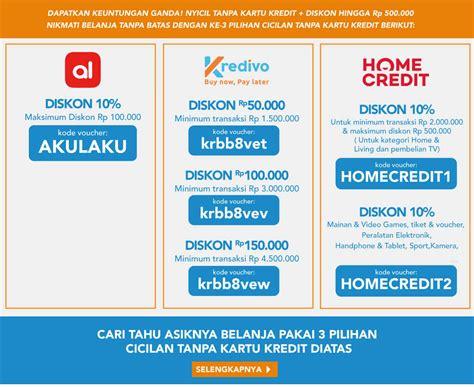 blibli kredit tanpa kartu kredit cicilan tanpa kartu kredit blibli com