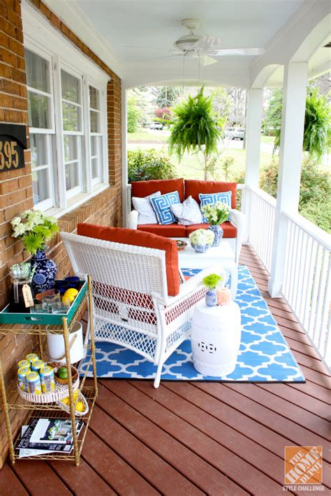 Front porch ideas southern charm with mediterranean color