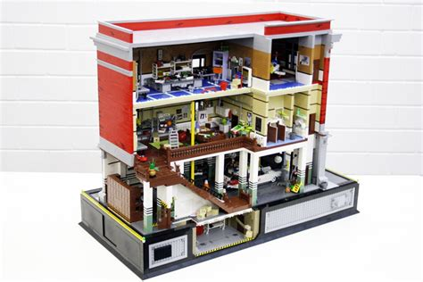 Lego Ghostbusters House by Ghostbusters Lego Creations By Pax