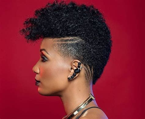 styles for black women with a taper and line amazing tapered haircut black women natural hairstyles