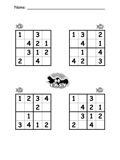 printable sudoku for preschoolers sudoku math worksheet answers very easy sudoku printable