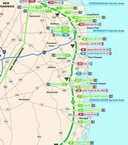 map of new jersey garden state parkway new jersey map