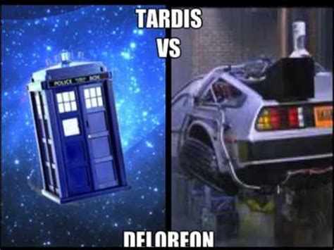 tardis vs delorean tardis vs deloreon