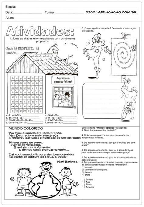 Atividades de Ensino Religioso 5º ano - Para Imprimir