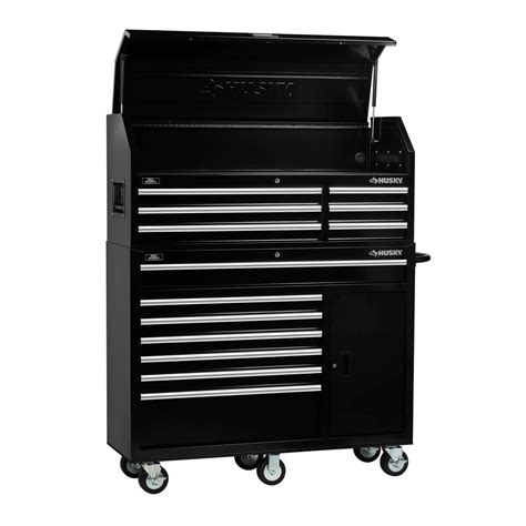 tool chest end cabinet husky 60 125 in 10 drawer mobile workbench textured